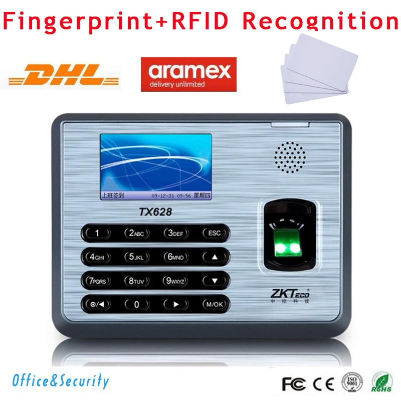 Free DHL ZK Fingerprint + RFID card time attendance machine biometric TCP/IP RS232 485 USB Linux system  time recording SDK