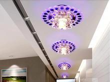 3W modern brief crystal light LED chandelier lamp lustres home decoration AC200-240V light fixtures abajur luminaria(China (Mainland))