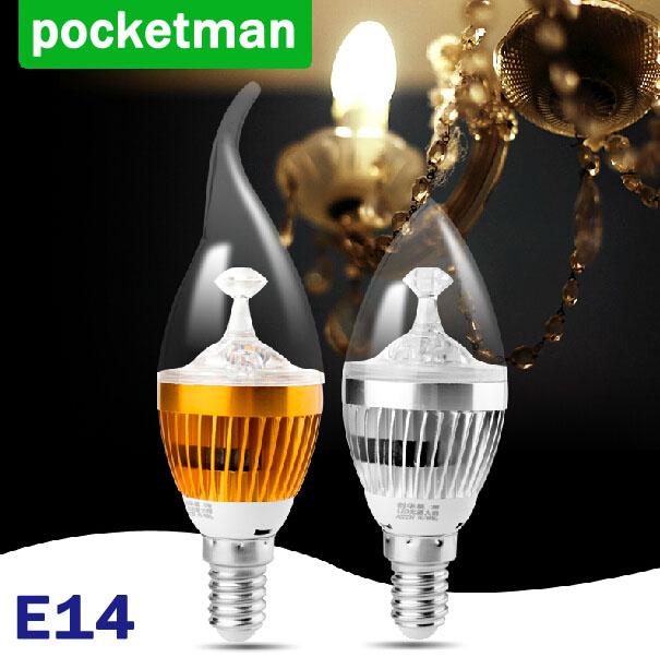 Wholesale High quality 9W 12W 15W E14 LED Bulbs Light 110v 220V dimmable Led Candle Warm/Cool White e14 LED Bulbs free shipping(China (Mainland))