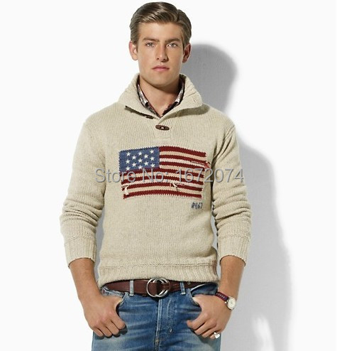 2015 Spring Mens Casual Napapijri Pullover Flag USA Top Ropa Hombre Sueter Blusas Masculinas Jersey Sweater Jumpers Clothing