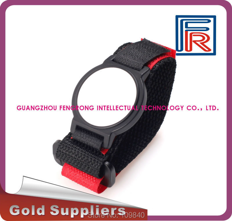 1000pcs 125KHz Nylon RFID Wristband/Bracelet Read-only with TK4100 chip for access control/Event/Club<br>