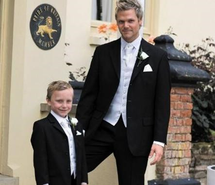 2015 Black Boy Tuxedo Wedding Suit Boys' Formal Occasion Attire Custom Made Suit(China (Mainland))