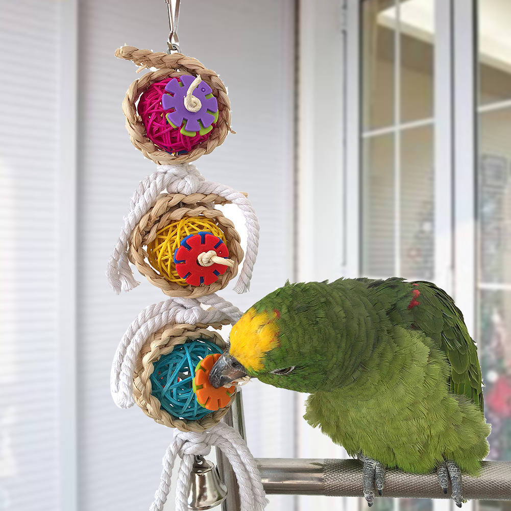 Parrot Toys Pet Bird Bites Climb Chew Toys Hanging Cockatiel Parakeet Swing Parrot Cage Bird Toys(China (Mainland))