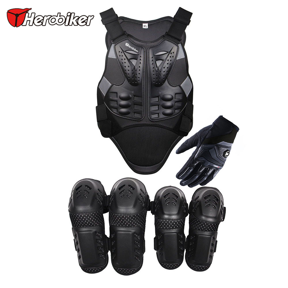 HEROBIKER Motorcycles Protective Gears 3 Suits Motorcycle Knee Guards & Moto Racing Gloves & Moto Body Armour Vest Moto Suits(China (Mainland))