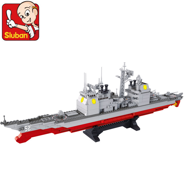 Building Block Set Compatible lego Marine Cruisers military 883D Construction Brick Educational Hobbies Toys Kids