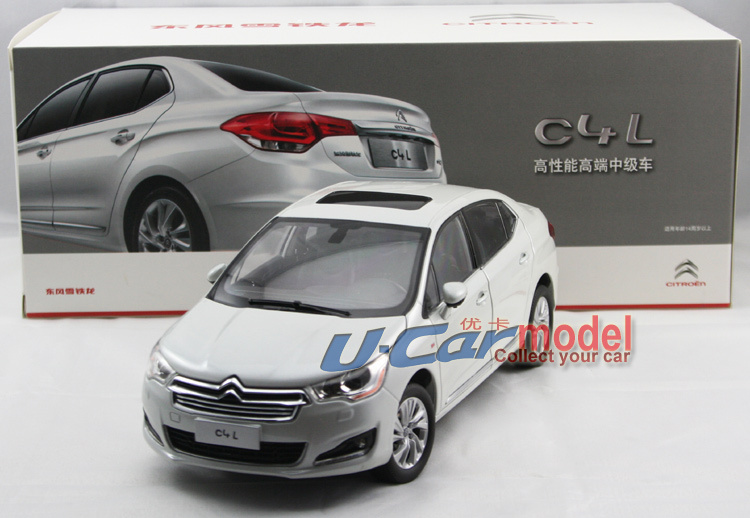 1pcs/ a lot 1:18 CHINA Citroen C4L 2012 Die-cast Model Car in White color (New Arrival)(China (Mainland))