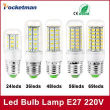 E27 E14 LED Corn Bulb 220V 110V SMD5730 lamp Spotlight 24LED 36LEDs,48LEDs,56LEDs,69LEDs led light - Pocketman Technology (China store Co., Ltd.)