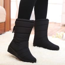 Botas de nieve 2016 de Invierno de la marca caliente antideslizante impermeable de arranque las mujeres zapatos de la madre casuales de algodón Botas Mujer botas de invierno zapatos femal(China (Mainland))