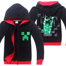 4-14y Children Hoodies Thin Sweatshirt Casual Cartoon Kids Clothes Autumn Baby Hoody Sudaderas Ninos Boys Clothes minecraft(China (Mainland))