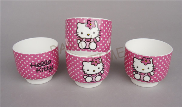 Hello Kitty Cup, Burgundy Hello Kitty Pattern Tea Cup for Home, Wedding, Children(China (Mainland))