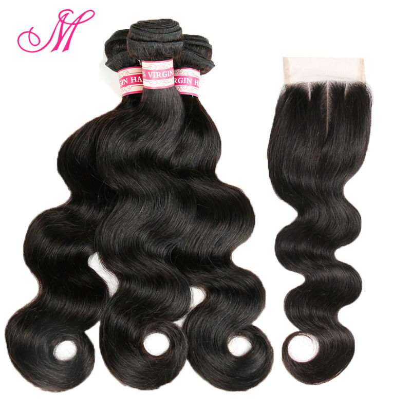 Гаджет  Queen Virgin Brazilian hair extension body wave 4bundles with 1pc lace closure, 5pcs lot Unprocessed natural hair free shipping None Волосы и аксессуары