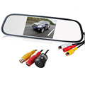 Waterproof Lens Angle CMOS Car Rearview Parking Camera with 4 3 Inch TFT LCD Monitor for