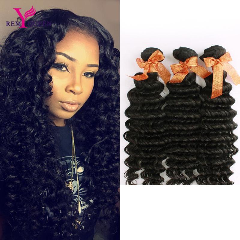 Remy Queen Hair Products 3 Bundles 7A Grade Virgin Unprocessed Human Hair Malaysian Deep Curly 100% Virgin Hair Free Shipping<br><br>Aliexpress