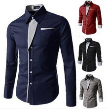 casual men shirts long sleeve camisa masculina camisetas social roupas blusas slim fit casual-shirts for male clothing 7 color(China (Mainland))