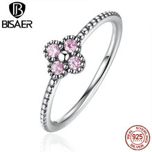 Buy 925 Sterling Silver Pink CZ Oriental Blossom Women Finger Ring Engagement Women Ring Compatible Silver 925 Fine Jewelry for $6.52 in AliExpress store