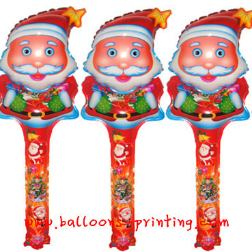 Bargain Price! Free Shipping Santa ClausClapper Sticks Balloon&Inflatable Balloon &wholesales clapper balloons ,children toys