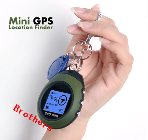 Free shipping 512K Flash Memory Keychain Design Mini GPS Receiver + GPS Location Finder,portable gps tracker(China (Mainland))