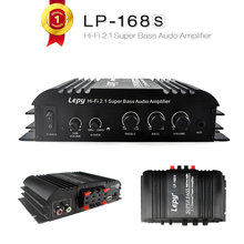 Buy nice Hi-Fi 2.1 Super Bass stereo power Amplifier 168HA Subwoofer Power Amplifier Motorcycle Car stereo Amplifier 2X40W+1X68W for $23.80 in AliExpress store