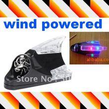 Alimenté par éolienne aileron de requin LED voiture véhicules décoration lumières arrière avertissement lampe(Hong Kong)