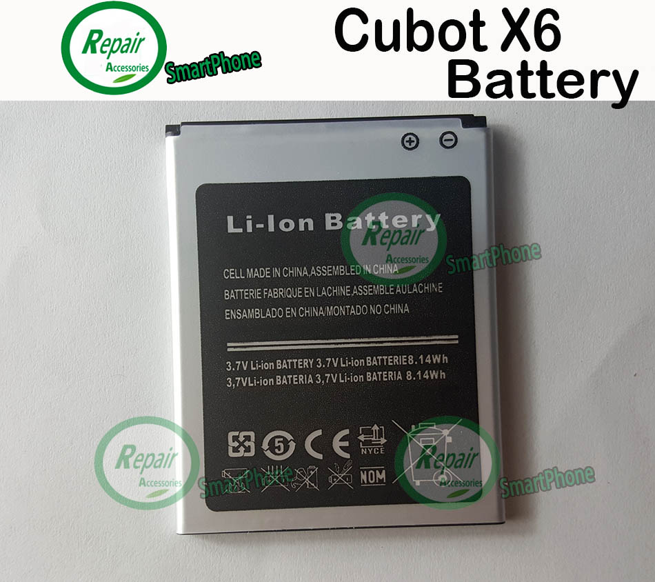 Гаджет  100% Original Cubot X6 Battery 2200mAh lithium-ion Replacement Back-up Battery for Cubot X6 Smartphone +  Free shipping None Бытовая электроника
