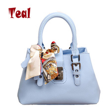 leather women bag women's handbags shoulde bags handbags women famous brands messenger bags fake designer handbags scarf(China (Mainland))