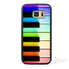 For iphone 4/4s 5/5s 5c SE 6/6s plus ipod touch 4/5/6 back skins mobile cellphone cases cover Piano Keys Music Rainbow