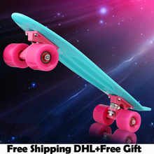 "Free Shipping High quality peny board original Skate Board 22"" Skateboard green board mini cruiser skateboards skate longboard(China (Mainland))"