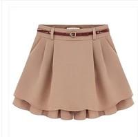2015 Sashes Solid Women Shorts Fashionable Casual Shorts Plus Size Loose Shorts Female Chiffon Short Pants Mid Waist
