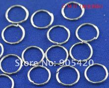 OMH wholesale 0.7X6mm 1600pcs Jewelry accessories DIY circle Nickel plating Plated Open Metal Jumping Rings Finding DY54(China (Mainland))
