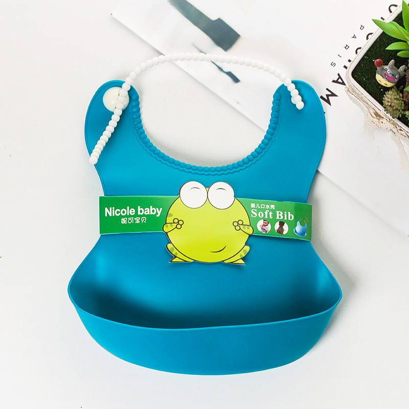 2016 New Arrival Baby Bibs Silica Gel Waterproof Lunch Bibs Boys Girls Infants Bibs Burp Cloths For Children Self Feeding Care(China (Mainland))
