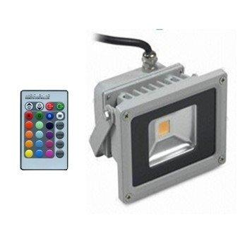 RGB 10W led floodlight  free shipping 2 years warranty