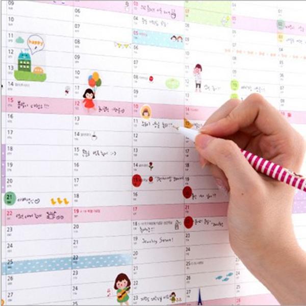 Hanging Planner Calendar : Year calendar wall planner plan schedule lovely paper