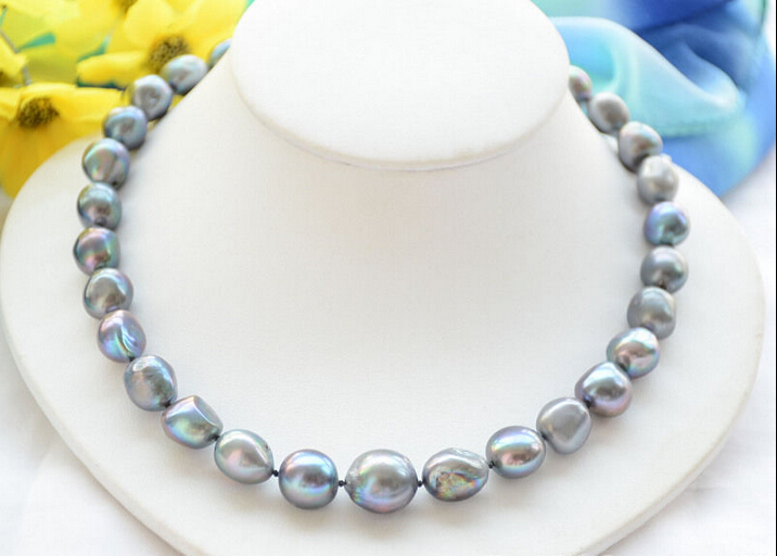 FREE shipping&gt;&gt;&gt; &gt;&gt;Z6463 Huge 16mm black baroque freshwater cultured pearl necklace 17inch<br><br>Aliexpress