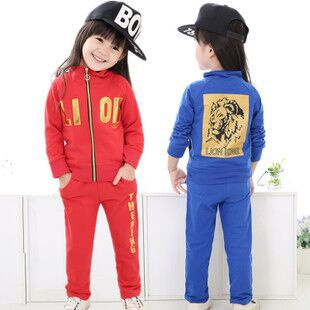 New kids Autumn winter leisure sports clothing set boys girls letters zipper coat+pants suits baby lovely cartoon clothes(China (Mainland))