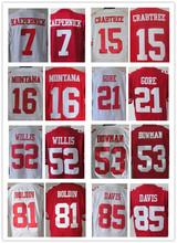 7 Colin Kaepernick Montana 35 Eric Reid 42 Ronnie Lott 52 Patrick Willis 53 NaVorro Bowman 80 Jerry Rice 81 Anquan Boldin(China (Mainland))