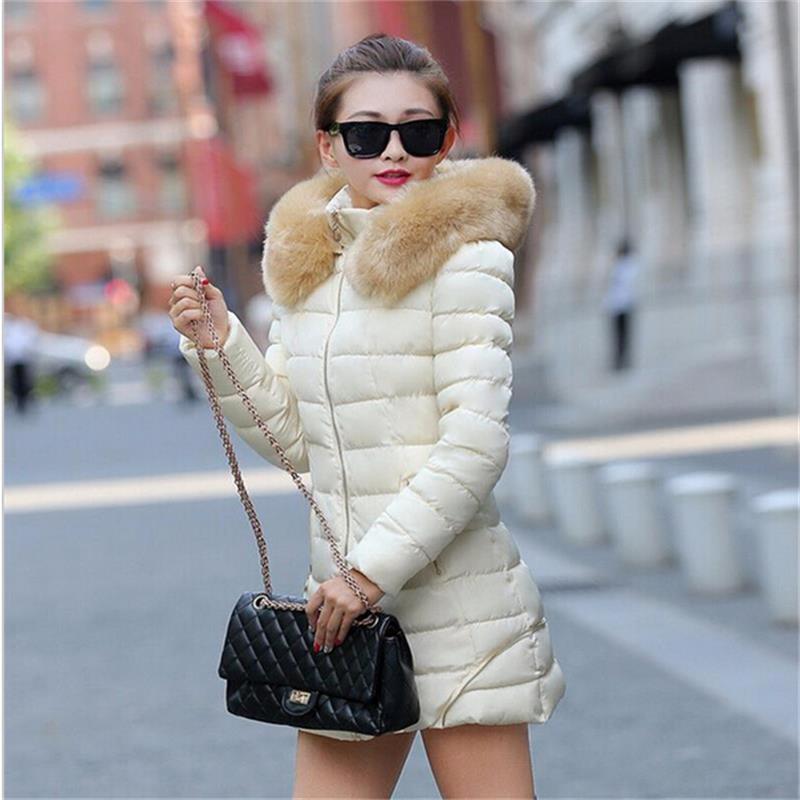 Hot!Fashion winter jacket Women Winter Coat Raccoon Fur Collar Warm Coats Woman Long Outerwear Thicken Parkas Down Jacket For(China (Mainland))
