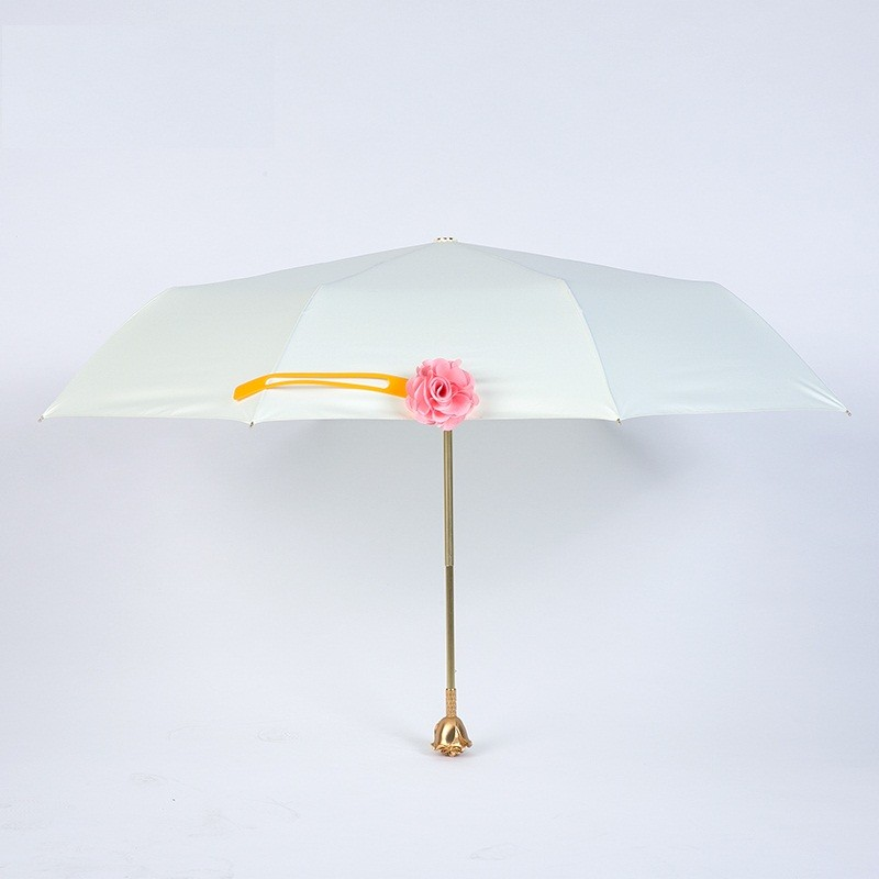 Fashion Creative 3D Rose Umbrella Vaulted Brand Vinyl UV Sunny Rainy ...