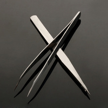 High quality Professional Durable Precision Tweezers Set Stainless Steel Non Magnetic Oct10(China (Mainland))