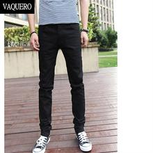 Basic Styles Mens Jeans Stretch Classic Black Denim Mens Pants Casual Fashion Slim Fit Jeans Size 27-36 919(China (Mainland))