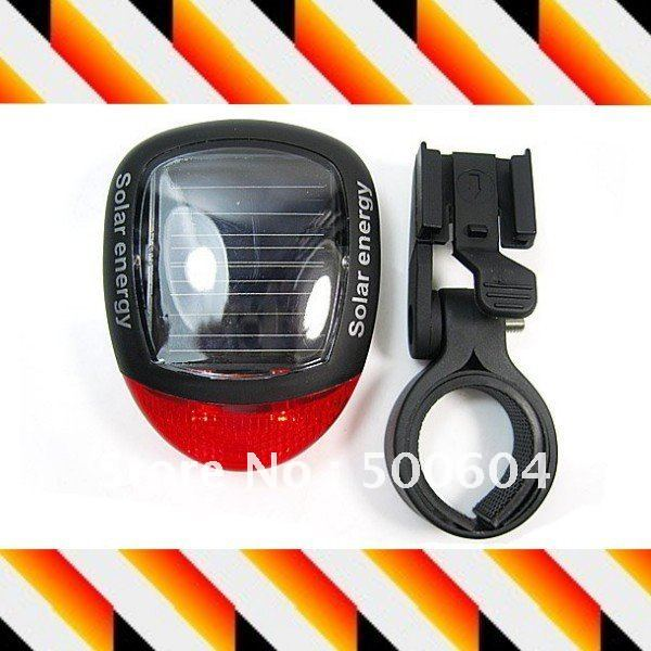 Solar Powered bicycle light/Taillight 2 LED Bike rear light Lamp Creative solor products(Hong Kong)