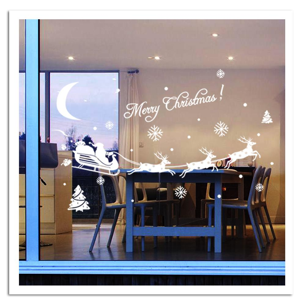 2015 new merry christmas wall sticker home decor shop store party window stickers decoration in - Home decor store dallas image ...