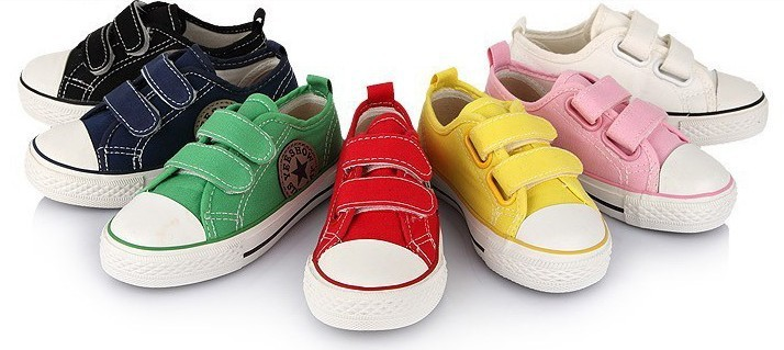 boys and shoes children canvas velcro sneakers