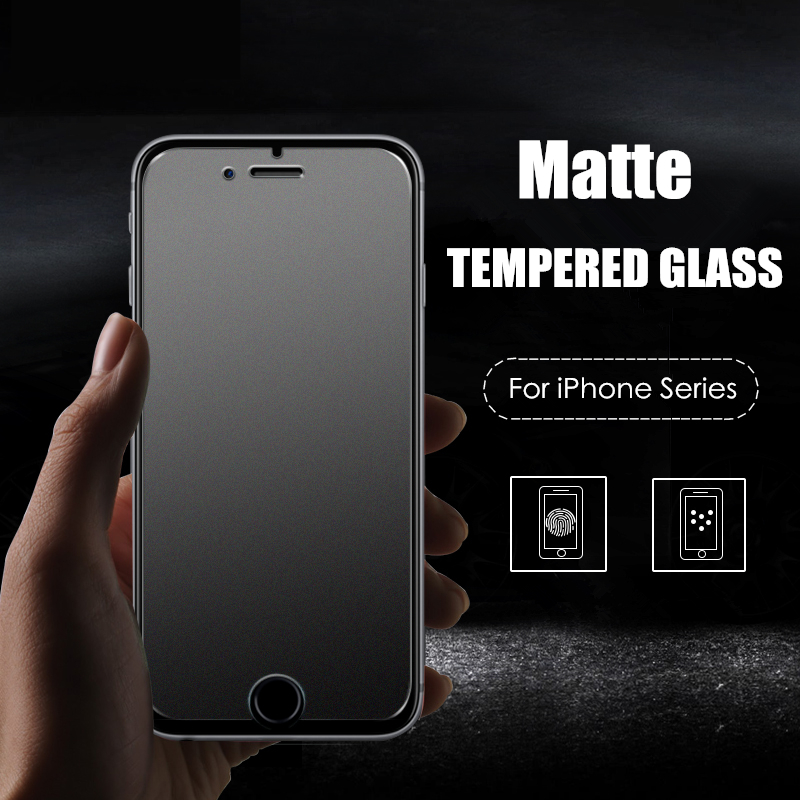 No Fingerprint Premium Matte Tempered Glass Screen Protector For iPhone 4 4S 5 SE 5S 5C 6 6S Plus Frosted Glass Protective Film(China (Mainland))
