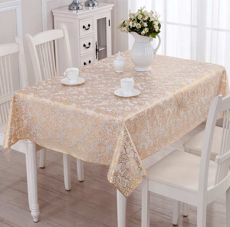 Wipe Clean PVC Vinyl Tablecloth Dining rectangle silver  : Wipe Clean PVC Vinyl Tablecloth Dining rectangle silver gold plastic waterproof 135x180cm oilproof plastic vinly table from www.aliexpress.com size 800 x 790 jpeg 408kB