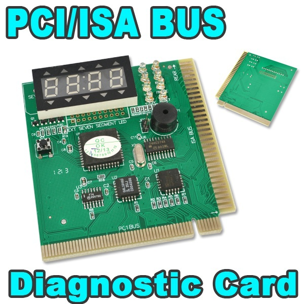 PCI & ISA Motherboard Tester Diagnostics Display 4-Digit PC Computer Mother Board Debug Post Card Analyzer(China (Mainland))