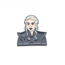 L3083 Game of Thrones non Si Sa Nulla del Metallo Dello Smalto Spilli e Spille per Le Donne Degli Uomini del Risvolto Spille Zaino Borse Cappello distintivo 1pcs(China)