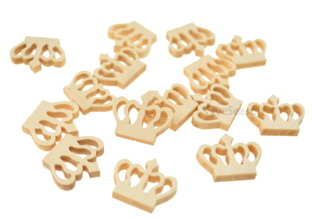 Wooden crown buttons for diy accessories children 39 s for Handmade decoration pieces