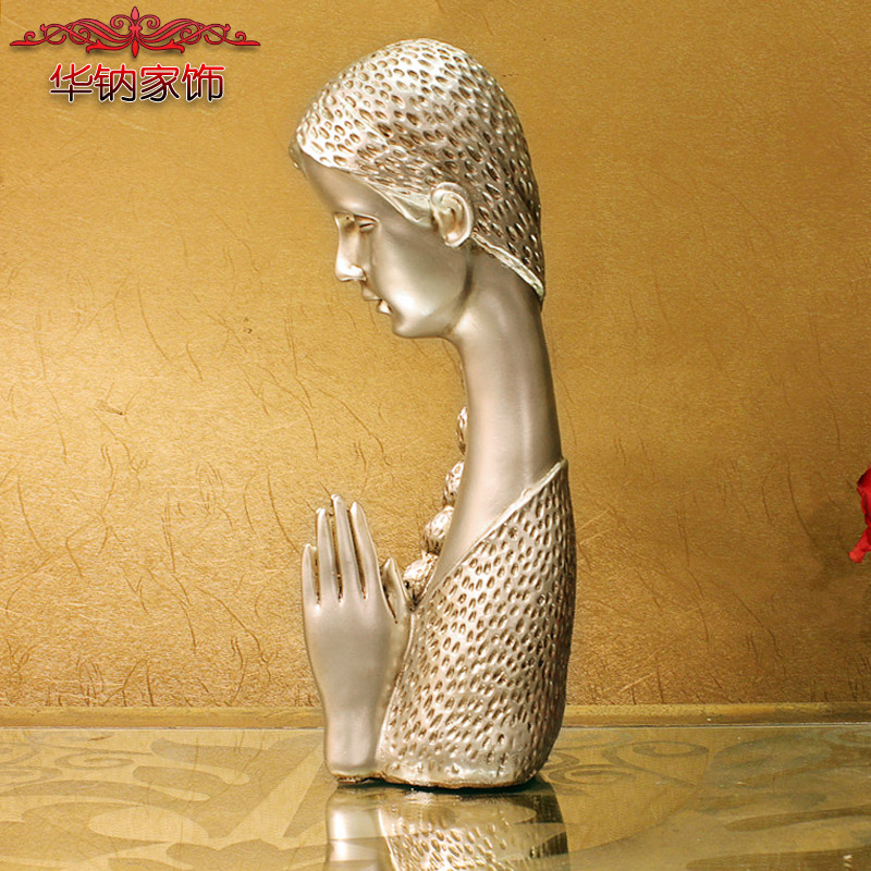 2016 Time-limited Rushed Home Furnishing Wedding Crafts Resin Figure Beauty Decoration 5010f Belief(China (Mainland))
