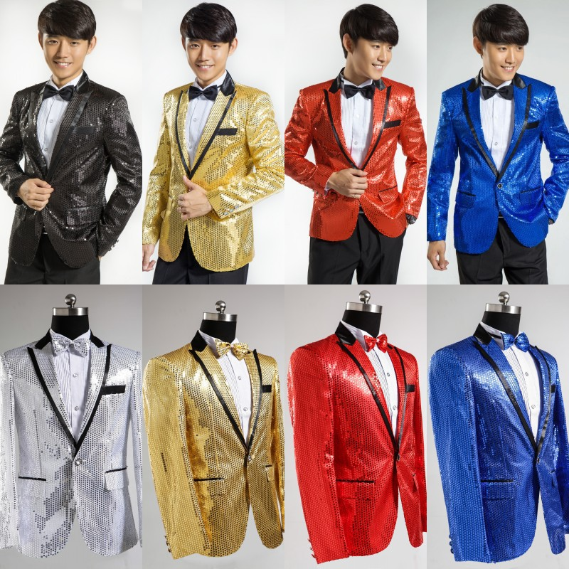 Cheap Shiny Suits Shiny Golden Piece Suits