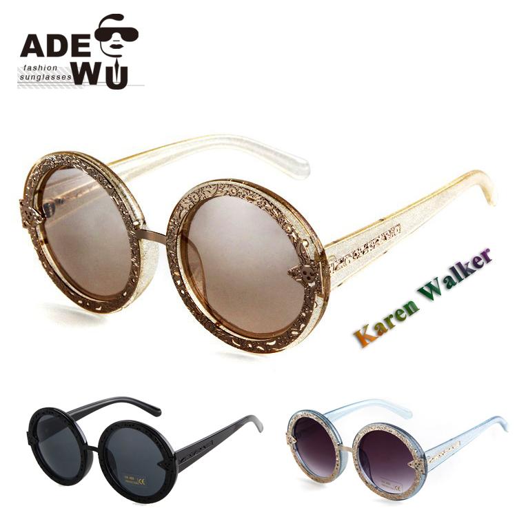 Luxe nouvelles dames lunettes de soleil orbit paillettes d for Gros miroir rond